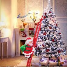 Электрическая игрушечная лестница Санта Клауса рождественский