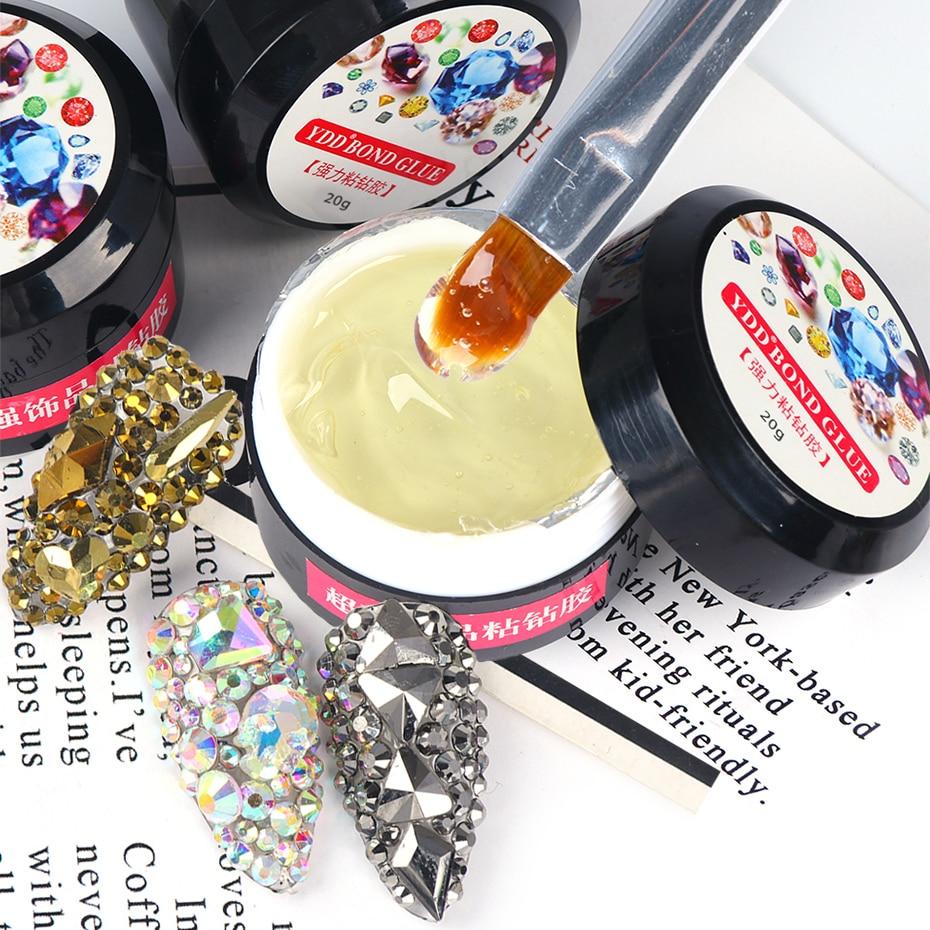 1pcs Nail Art Rhinestone Super Sticky Gel Glue Crystal Jewelry Clear Resin No Wipe Lacquer Polish Brush Decoration Tool SA1603
