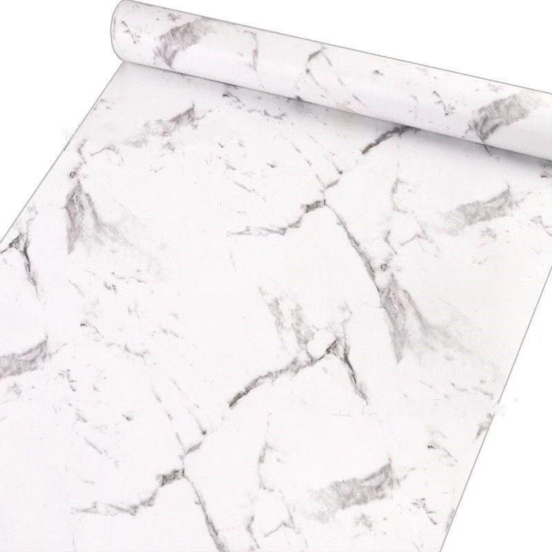 2019 INS style nordique marbre pierre design papier peint papel de parede en rouleau taille 0.45*10m sticker mural