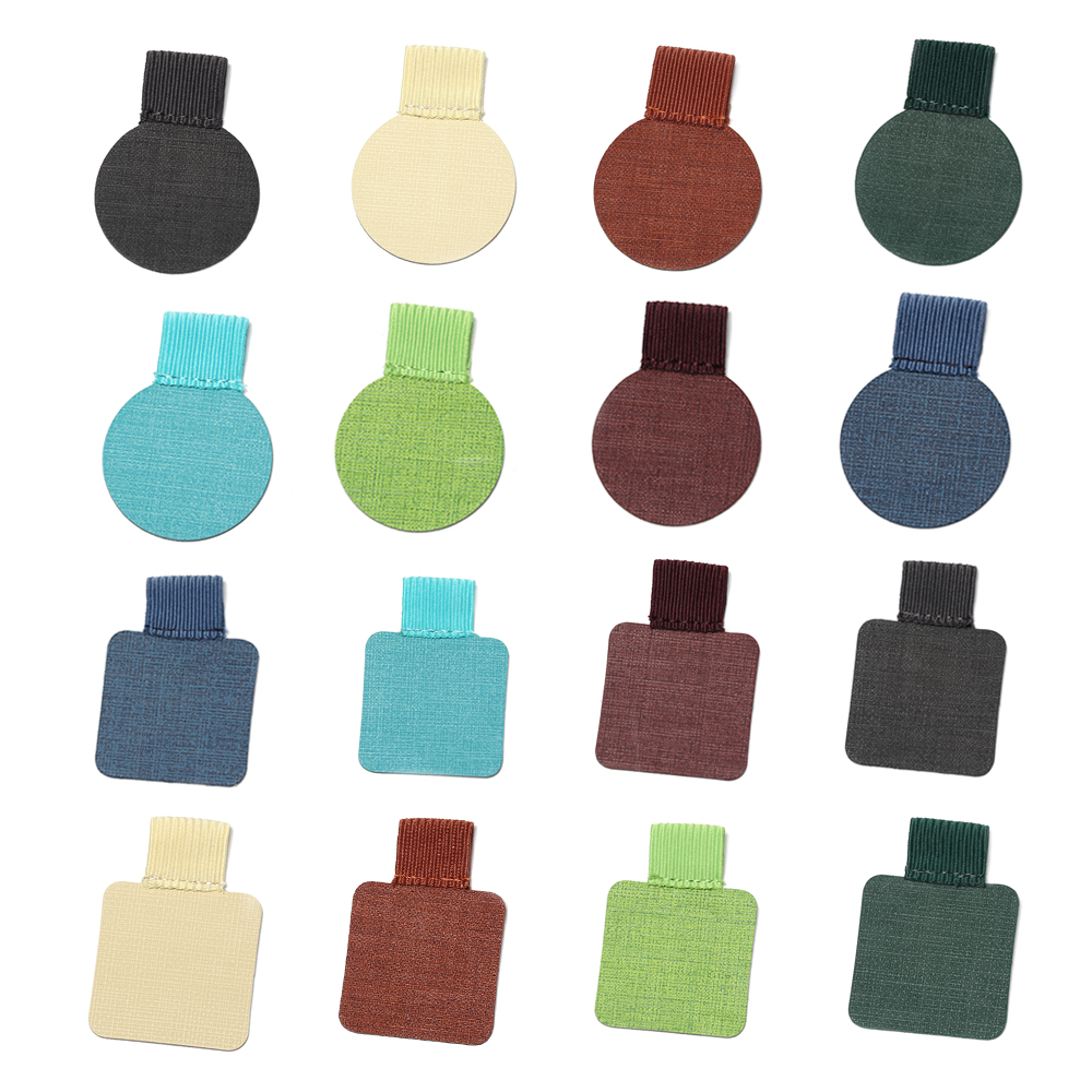 31Colors Self-Adhesive Pen Holder Leather Pen Clip Pencil Holder Elastic Loop For Notebook Journals Clipboards Porta Penne