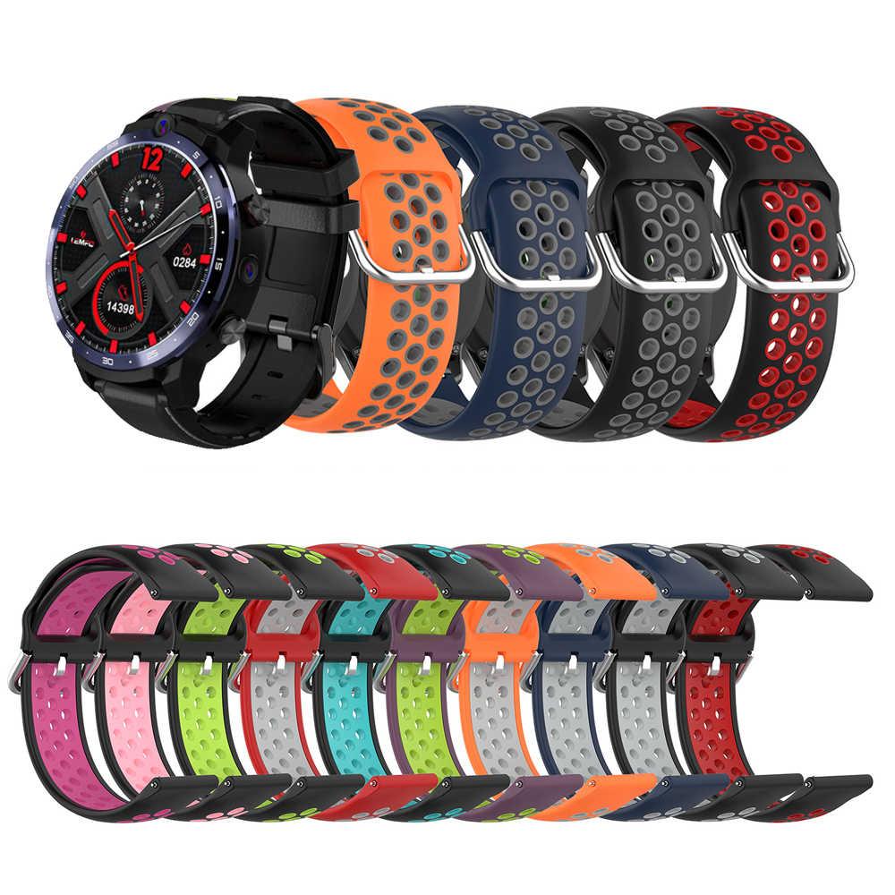 Correa de reloj de silicona de repuesto para LEMFO LEM12 Smartwatch accesorios de reloj de pulsera LEM 12 correa de muñeca de silicona de doble Color
