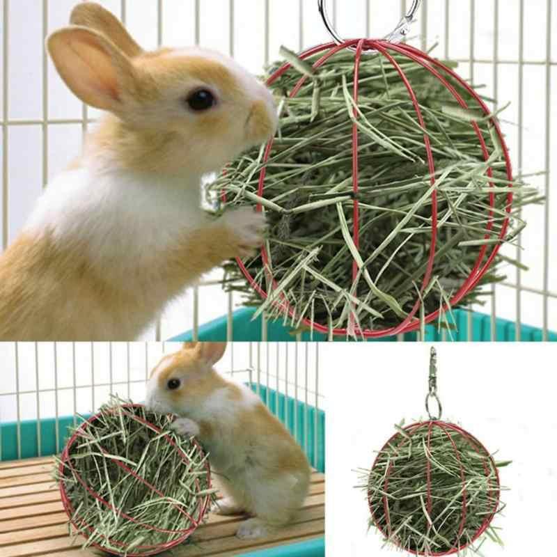 Forma grama Ferramenta Manjedoura Alimentador Comida Bola Grama Rack de Gaiola de Hamster Hamster Coelho Pendurado Decoração Chapeamento de Brinquedo Hamster Pet Feno bola