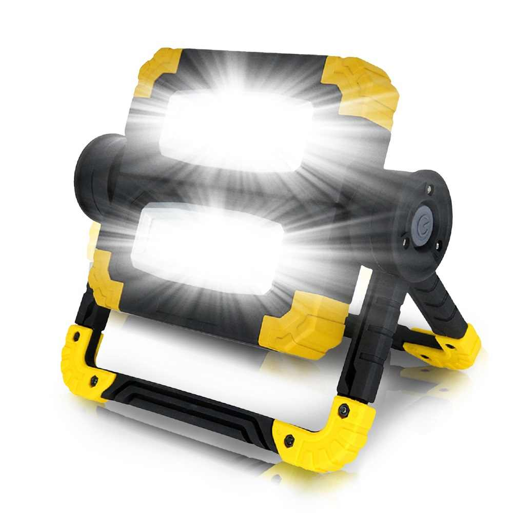 New7500lm Led Portable Spotlight Waterproof Searchlight Led 150W Led Work Light use 4*AA Battery For Hunting Camping