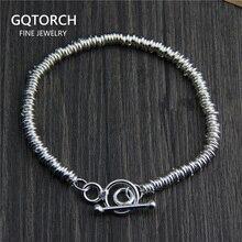 Real pure 925 prata esterlina pulseira artesanal para mulheres vintage punk design original personalizado pulseira