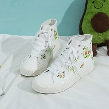 New Woman Casual Canvas Shoes High Top Shoes