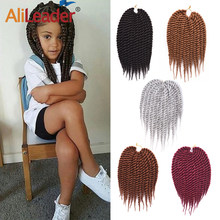 Alileader 22 Strengen/Pcs Haak Haar Havana Haak Twist Hair Extension Soft Synthetisch Gehaakte Vlechten Voor Kids 12 Inches(China)