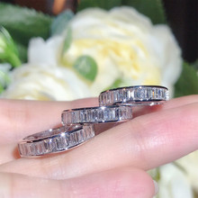 Luxury 100% 925 Sterling Silver Created Moissanite Citrine Sapphire Gemstone Engagement Wedding Rings Jewelry Wholesale