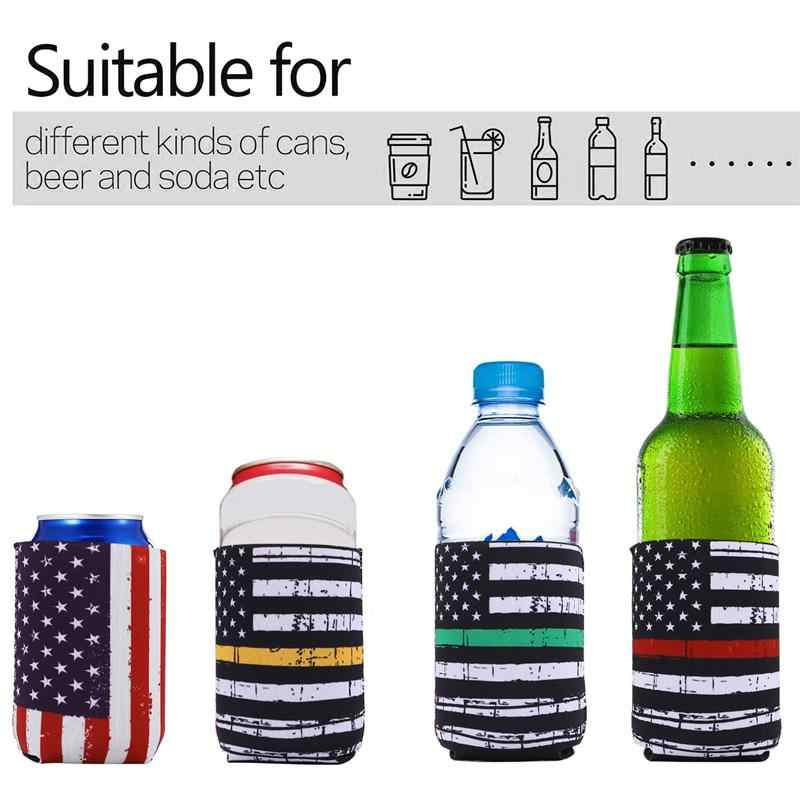 2Pcs Cactus Leopard Stripes Neoprene Can Beer Bottle Cover Insulated Sleeve New