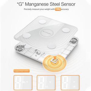 Image 4 - BlitzWolf báscula de cuerpo inteligente, BW SC1, 2,4 GHz, WiFi, Control de grasa, aplicación remota, análisis de datos de IMC, 13 métricas corporales, báscula de peso Digital