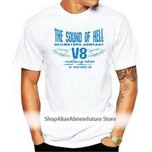 2021 Latest Men T-Shirt Fashion Casual Cotton Short Sleeve V8 Hotrod Big Block Muscle US Car Biker Hellmotors Sound T shirt