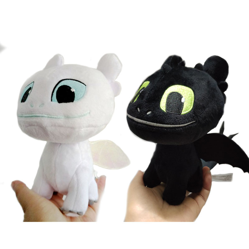 How To Train Your Dragon 3 Light Fury Plush Figure Toy White Dragon Stuffed Doll