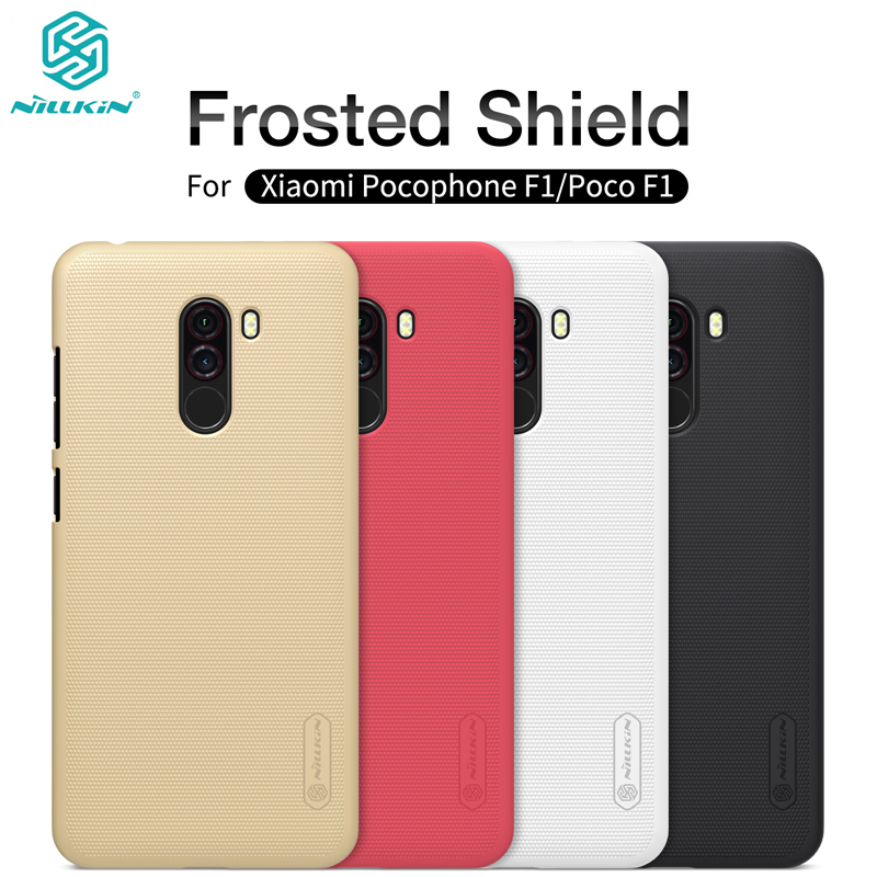 For Xiaomi Pocophone F1 Phone Case Nillkin Super Frosted Shield Hard PC Matte Back Cover Shell for Xiaomi Poco F1 Case Capa
