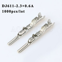 DJ611 2.3 0.6A 1000 sztuk zacisk wtykowy przewód męski żeński wtyczki złącza gniazdo skrzynka bezpieczników wiązki przewodów miękka osłona samochodu wtyczka terminalowa w Zaciski od Majsterkowanie na