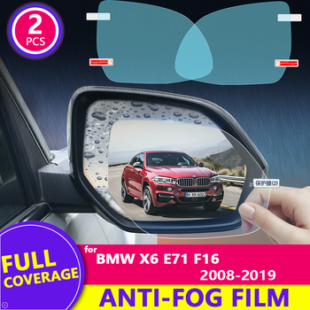 Rain Film Full Cover Rearview Mirror Clear Anti-Fog Rainproof for BMW X6 2008-2019 (F71 F16) 2016 2017 2018 Stickers Car Goods image