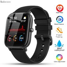 P8 Smart Watch Men Women Full Touch IP67 Waterproof Fitness Tracker Sport Heart Rate Monitor Smartwatch for Amazfit Gts Xiaomi