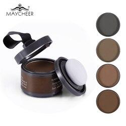 Poudre d'ombre de ligne de cheveux de maquillage de marque de mayjoy avec le miroir et la bouffée 4 couleur Rose extrait facile à porter correcteur bronzant surligneur