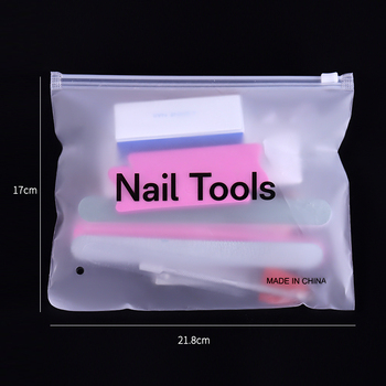 PRO Nail Set Manicure Set Strass Nail Rhinestones Tweezers Nail Buffer Blocks Files Dust Brush Dotting Pen Nail Tools Kit Design 6