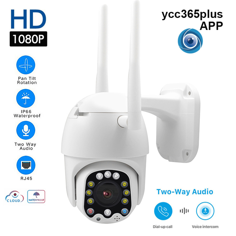 1080P PTZ IP Camera WIFI Cloud Storage Wireless Speed Dome Camera Outdoor Pan Tilt Audio P2P Network CCTV Home Surveillance image