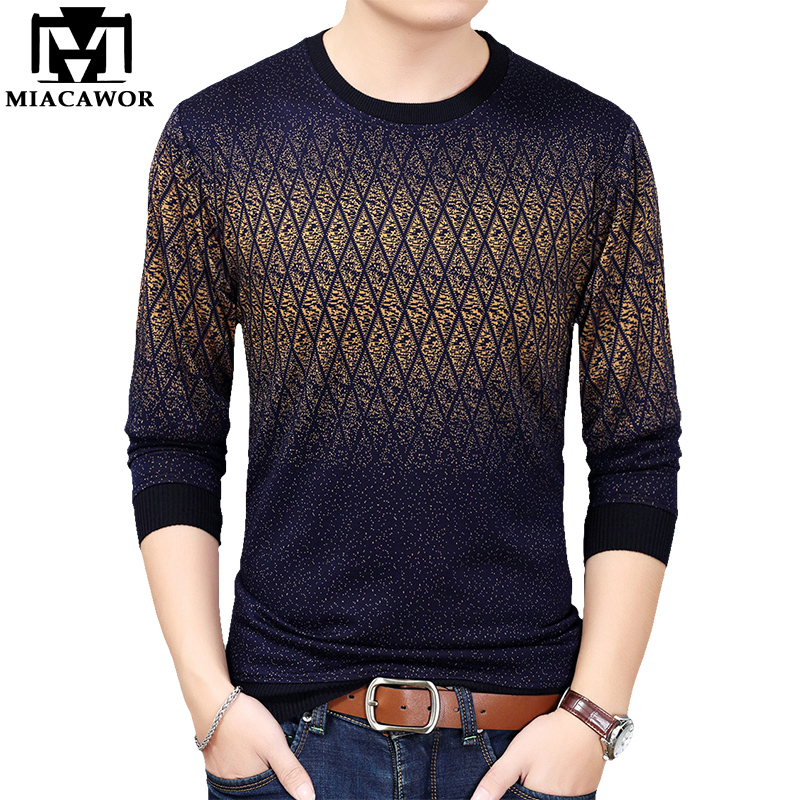New Men T Shirt Fashion Knitwear Tshirt Men Spring Long Sleeve Casual Tee Shirt Homme Camiseta Masculina Tops & Tees T843