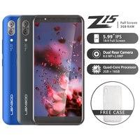 LEAGOO Z15 Mobile Phone 5.99 18:9 Full Screen 2GB RAM 16GB ROM Dual Rear Camera 3000mAh Android MT6580M Quad Core 3G Smartphone