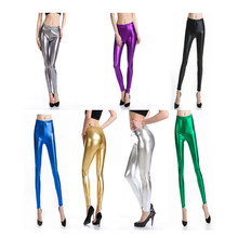 Fetish Gay Leer Dragen Pole Dance Vrouwen Fetish Night Party Sexy Club Lingerie Broek Bright Pu Lederen Skinny Broek Gothic 2020(China)