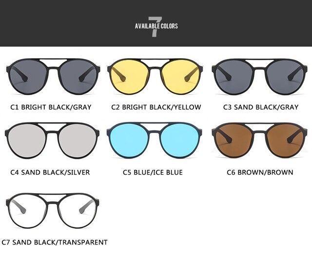 2021 Steampunk gafas de sol de las mujeres hombres Retro gafas redondo abatible hacia arriba conducción gafas Steampunk moda Vintage gafas de sol 3