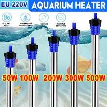 Chauffage d'aquarium 500W 100W réservoir de poisson Submersible tige de chauffage de l'eau contrôle de température Constant Thermostat automatique 220V 110V