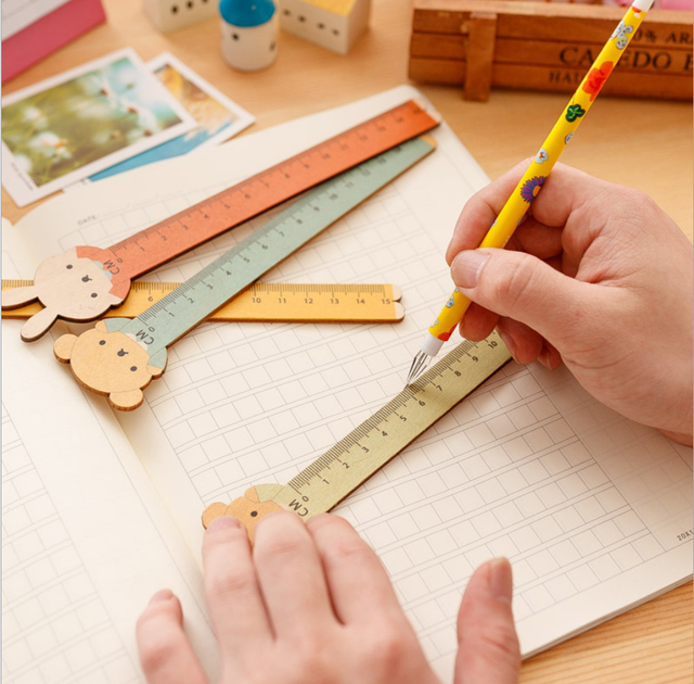 Animal Shaped Wooden Ruler