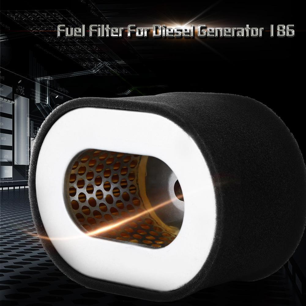 Воздушный фильтр из нержавеющей стали, сменный топливный масляный фильтр, детали двигателя, черные дизельные генераторы, запчасти для генератора, двигатель 186