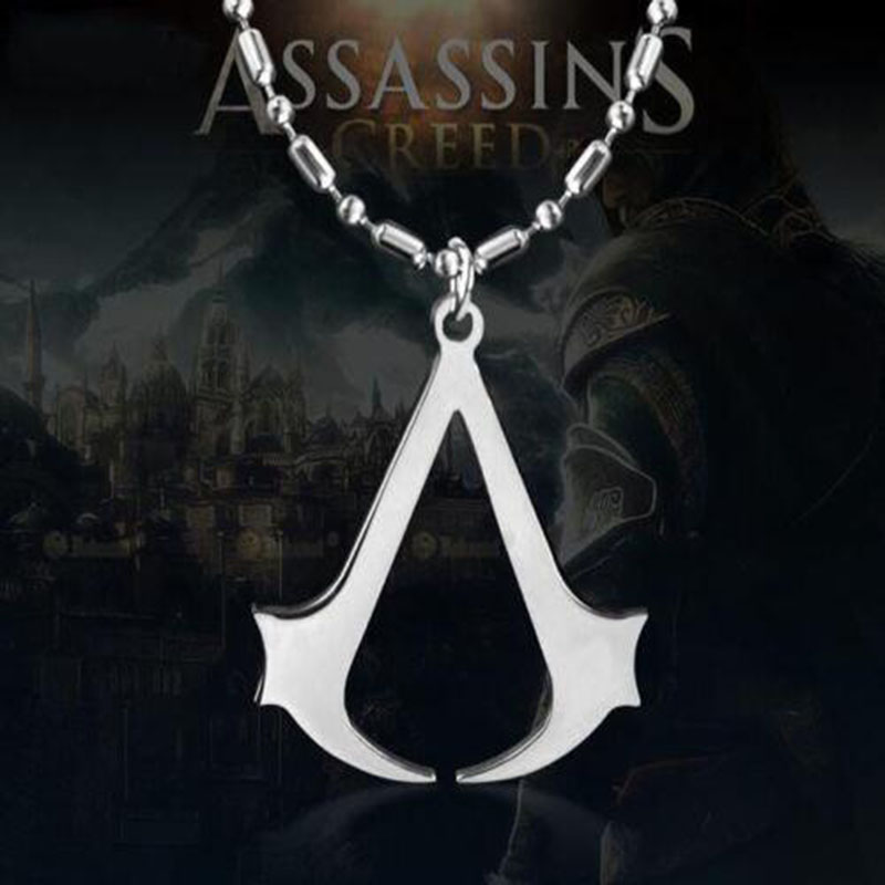 Assassins Creed Ezio Titanium Alloy Pendant Necklace Unity Stainless Steel for Men Women