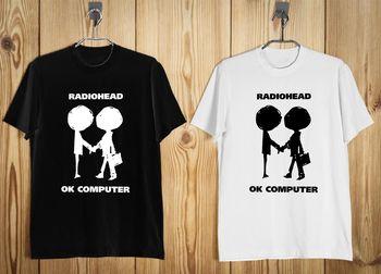 New RADIOHEAD OK COMPUTER Logo Men's T-Shirt Black White S-3XL B