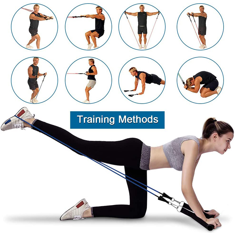 Комплект эспандеров 17 шт., эластичная резиновая лента для упражнений для фитнеса, домашних тренировок, спортзалов и тренировок-5