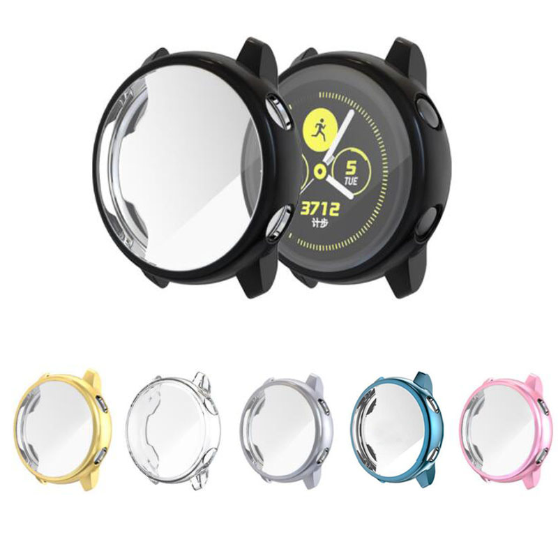Silicone Soft Screen Glass Protector Case Shell Frame Film For Samsung Galaxy Watch Active Protective Cover Protection Bumper