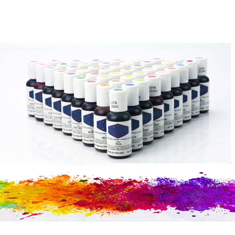 Food Coloring 5 Color Bright Rainbow Cake Food Coloring Set For Baking Decorating Icing And Cooking Assorted Liquid Food DIY Art
