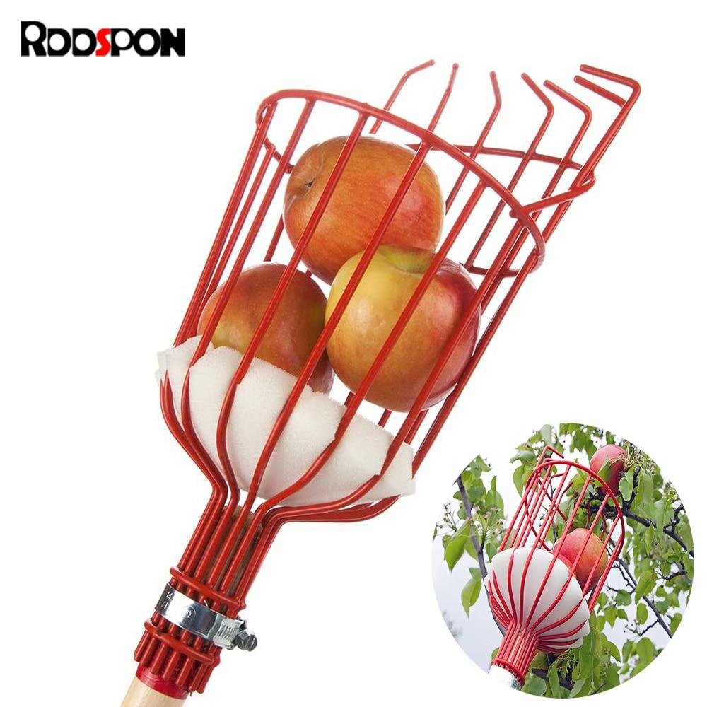 2020 Aluminum Deep Basket Fruit Picker Head Convenient Harvesting Fruit Collector Catcher Apple Peach Picking Garden Tools