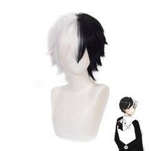 Данганронпа искусственный парик данганронпа короткие белые черные