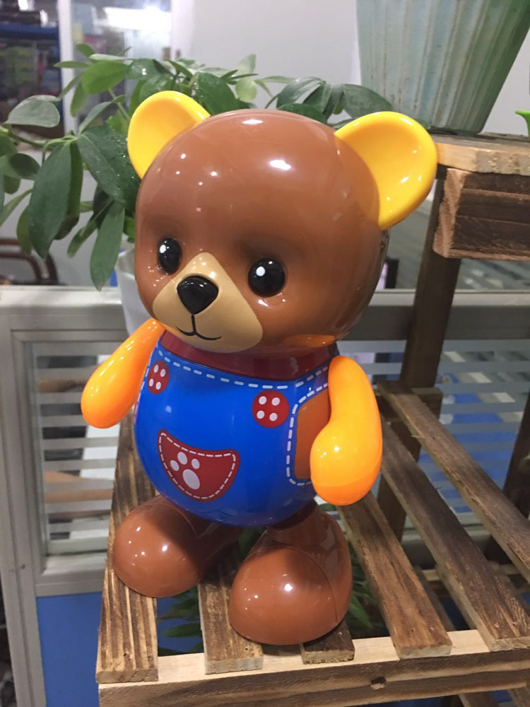 Creative-Plastic Boy Dancing Electric Bear Children Light Music Singing Doll Teddy Bear