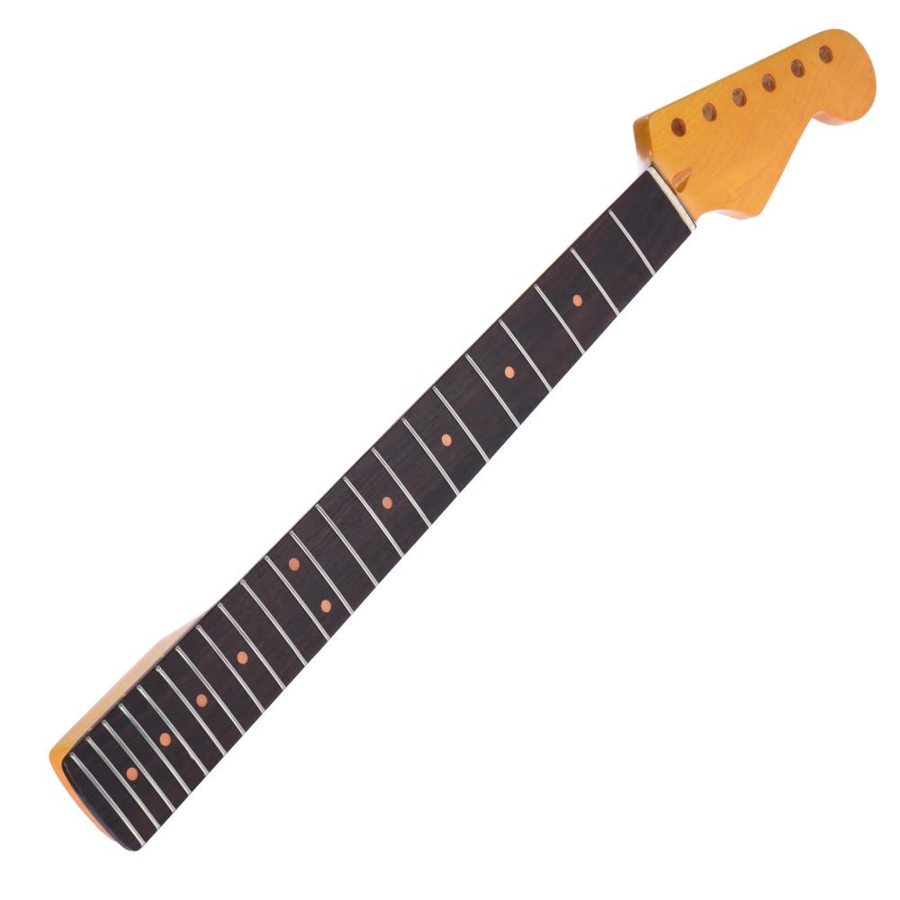 Brillant exquis 22 frettes nouveau remplacement manche en érable palissandre touche de Fretboard pour accessoires de guitare électrique
