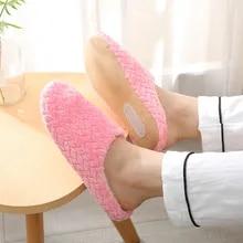 Winter Shoes House Slides Indoor Slippers Floor Anti-Slip Warm Soft Plush-Lovers Women