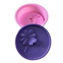 Forming-Tool Soap-Mold Flower Baking Silicone Crafts Cakes Handmade DIY 3D Four-Leaf