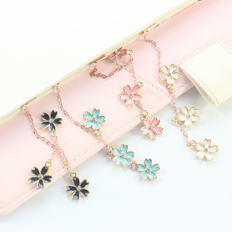 Domikee Cute Kawaii Korea Flower Shape Office School Metal Bookmark For Books Girls Planner Decorative Accessories Stationery
