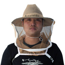 Head Face Protector Net Veil Beekeeping Cowboy Hat Bug Beehive Portable Anti Bee Comfortable Ventilated Cotton Linen Braid(China)