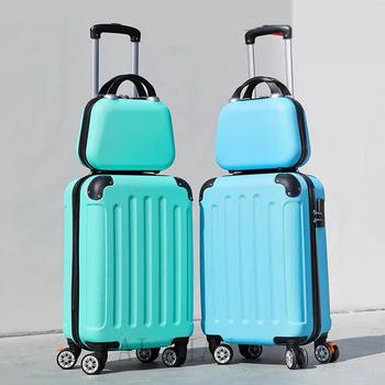 Zestaw walizek na kółkach walizki i torby podróżne z kółka obrotowe 20 #8221 bagaż na kółkach bagaż na kółkach duża pojemność tanie i dobre opinie NoEnName_Null CN (pochodzenie) Rolling przechowalnia 26CM Spinner 40CM Unisex Black Green rose gold gray Travel suitcase on wheels