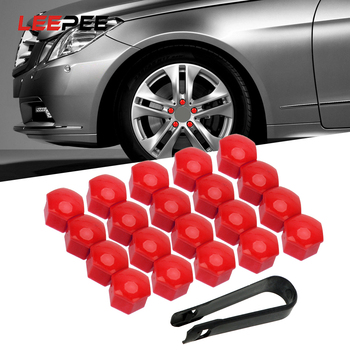 20pcs 17mm Car Wheel Nut Caps Dust Proof Protector Tire Wheel Screw Cap Auto Trim Tyre Nut Bolt Auto Hub Screw Cover Car Styling image
