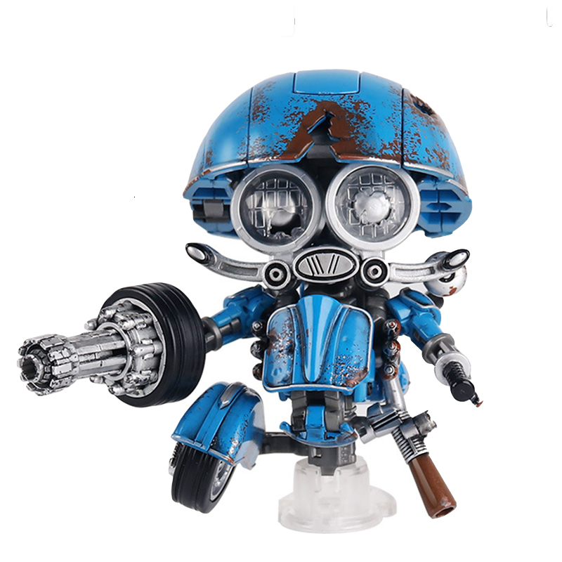 WEIJIANG Sqweeks Battle Damage With Platform Transformation Toy Small Steel Cap Action Figure Movie Model Deformation Car Robot