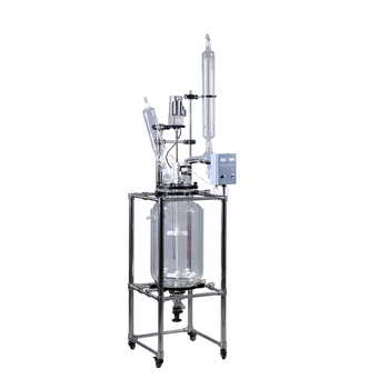 Laboratory Equipment  100L Lab Double Jacket high Pressure Chemical Glass Reactor
