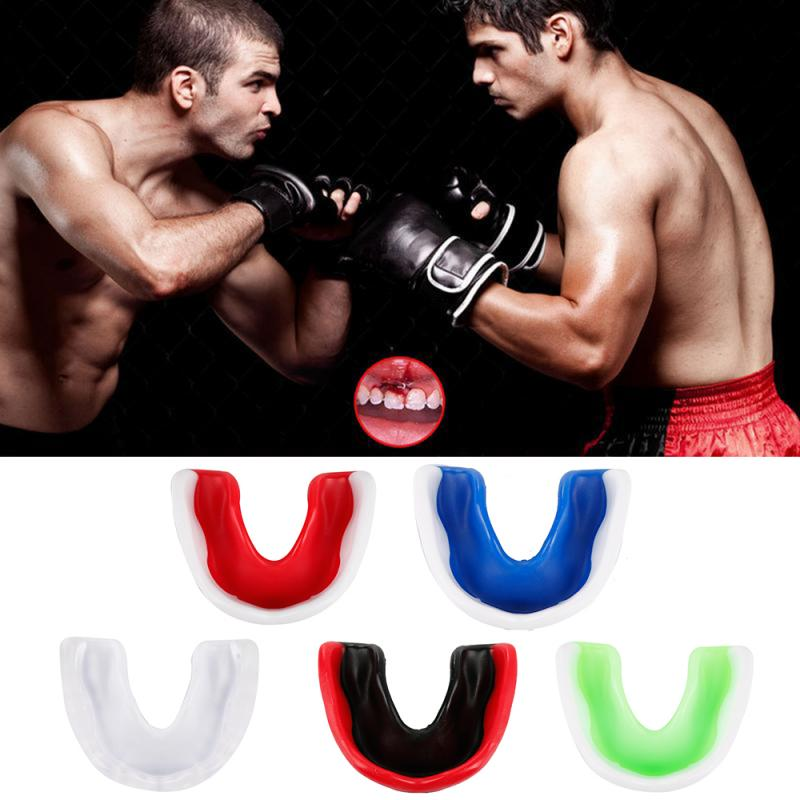 Outdoor Sports Tooth Protector Stretch Single Side Silicone Mouthguard Braces /Denture/Football Basketball Boxing  Sport Tooth