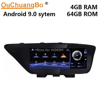 Ouchuangbo car GPS radio kit monitor recorder for Lexus ES300 250 350 2013-2017 support 8 cores 4+64 android 9.0 OS