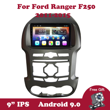 цена на Android 9.0 Auto Car Radio For Ford Ranger F250 2011 2012-2015 GPS Navigation Android 2Din IPS Screen DSP DVD Multimedia Player
