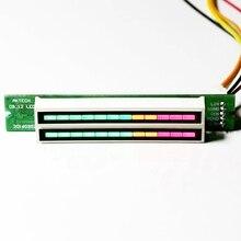 AABB-мини двойной 12 уровень индикатор VU метр стерео усилитель доска регулируемый светильник скорость доска с режим АРУ Diy наборы